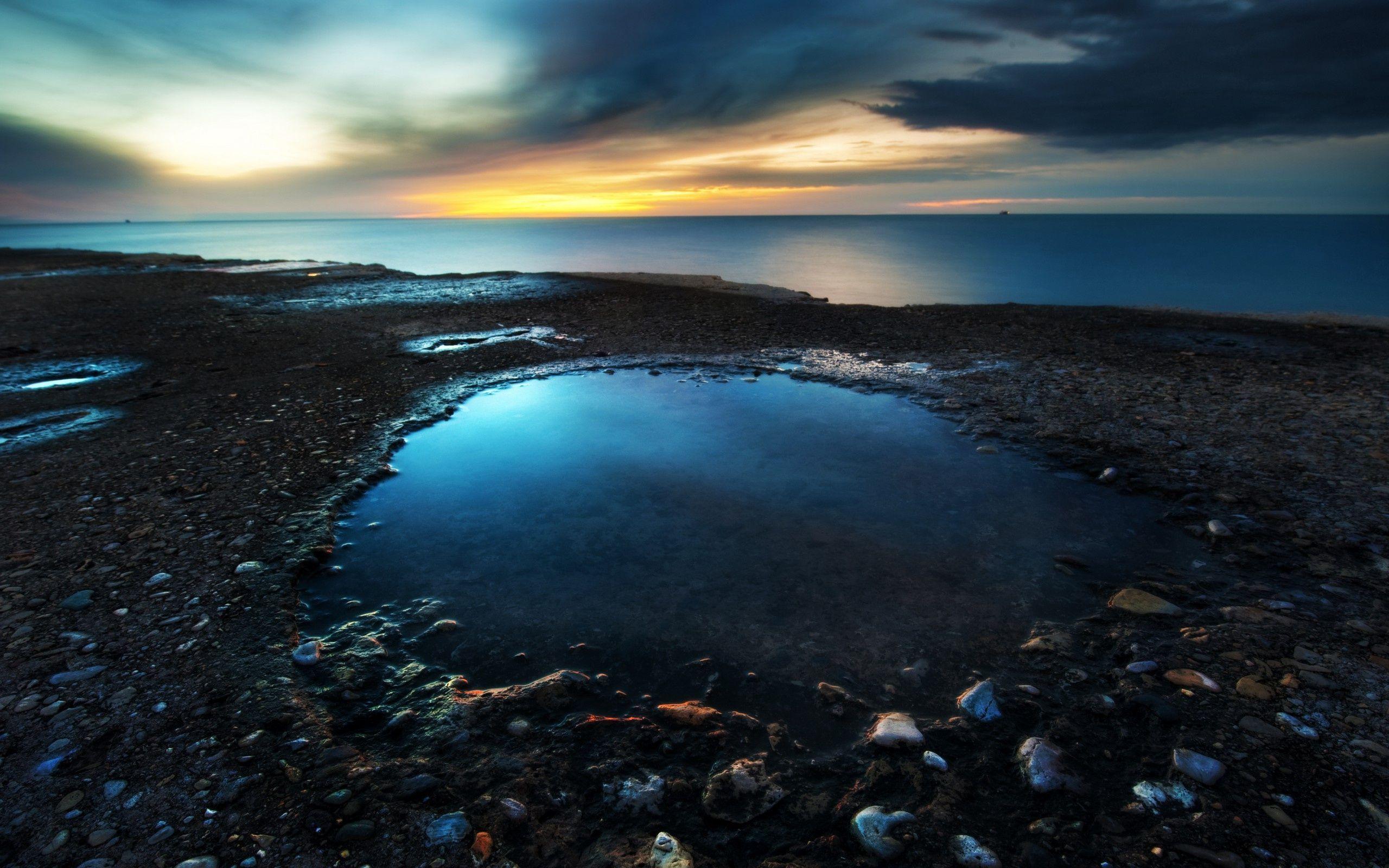 Dark Sunset By The Ocean Sunset Wallpaper Hd Nature Wallpapers Ocean Wallpaper