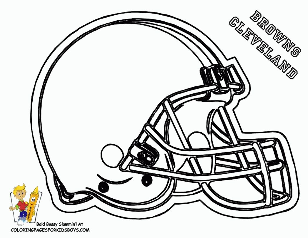 Cleveland Browns Coloring Pages Printable Nfl football