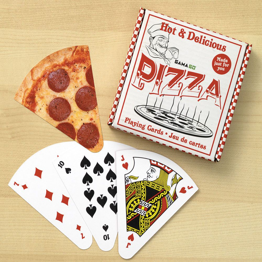 Playing Cards Shaped Like Slices Of Pizza Playing Card Crafts Playing Card Box Cards