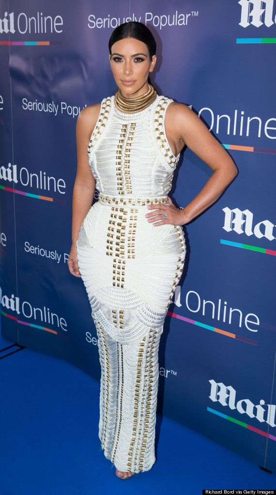 Kim Kardashian Wears An Incredibly Tight Rope Dress For Yacht Party