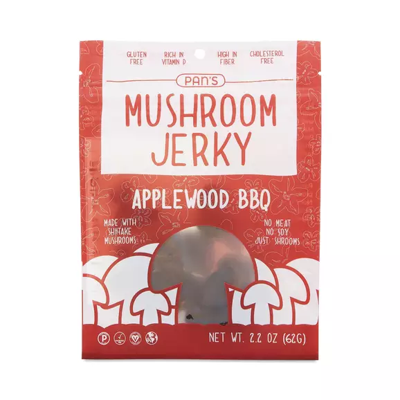 Pan's Mushroom Jerky Original Mushroom Jerky Stuffed