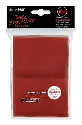 BCW 100 Premium Red Double Matte Deck Guard Sleeve Protectors for Gaming Cards /&