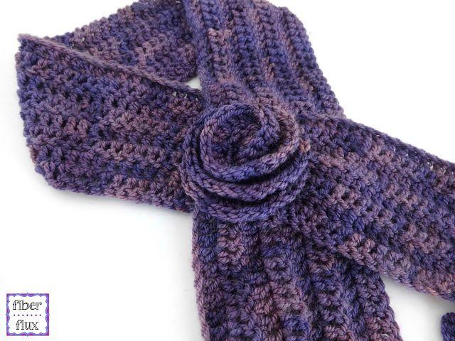 Fiber Flux: Free Crochet Pattern...Vintage Blossom Keyhole Scarf ...