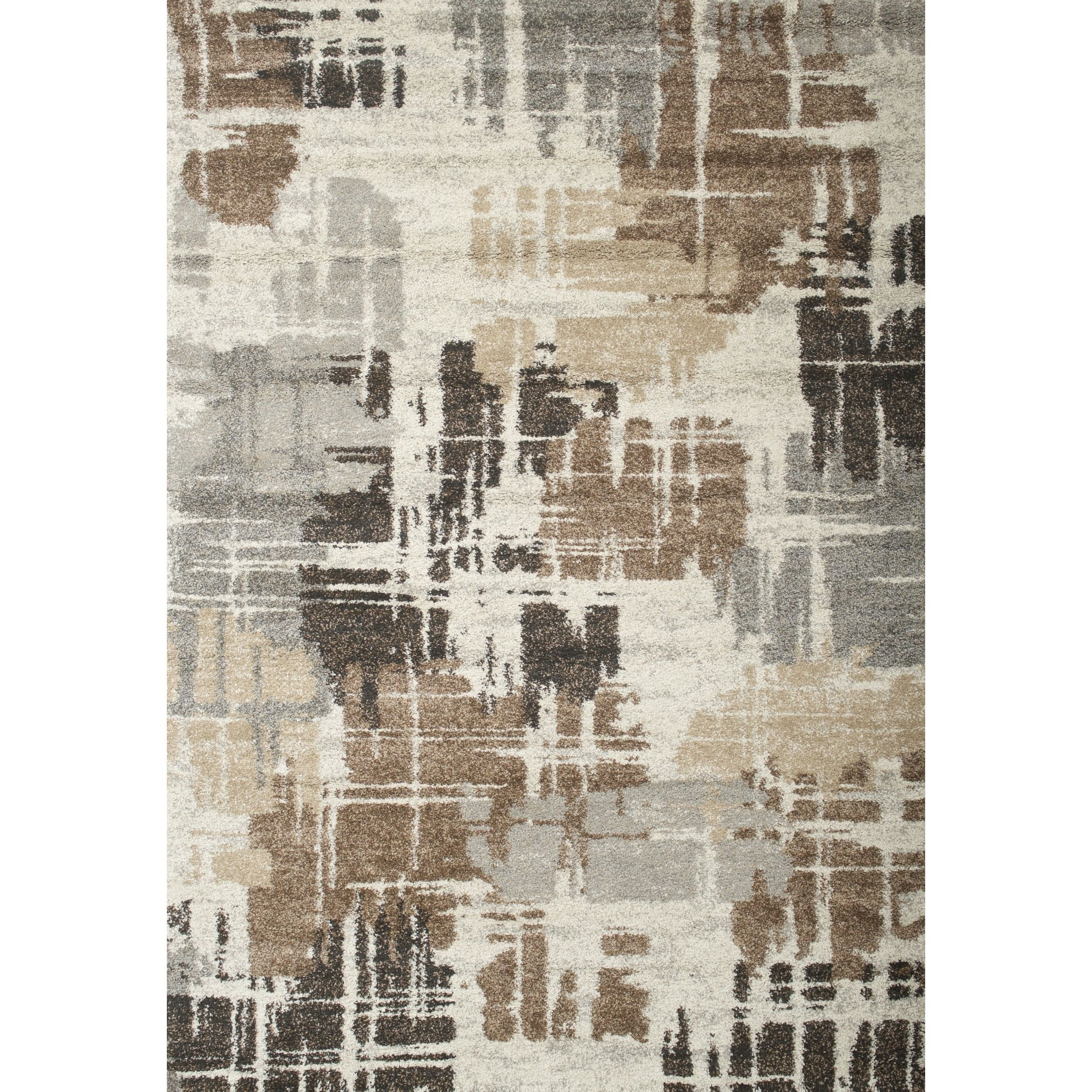 Best Renn Chocolate Med Brown Grey Ivory Area Rug By Greyson 400 x 300