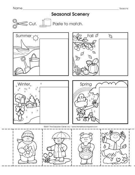 The Mailbox Seasons Worksheets Preschool Weather Preschool Worksheets Winter science worksheets for
