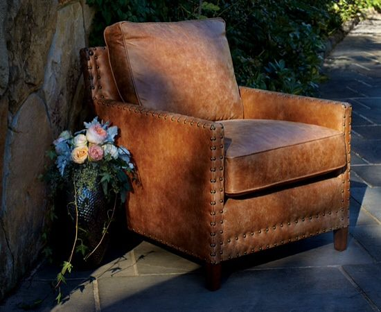 Western Style Leather Chair   Arhaus