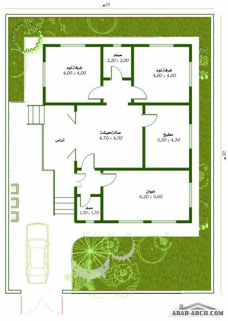 خرائط بيت طابق واحد مسحه البناء 120 متر مربع My House Plans New House Plans House Plans