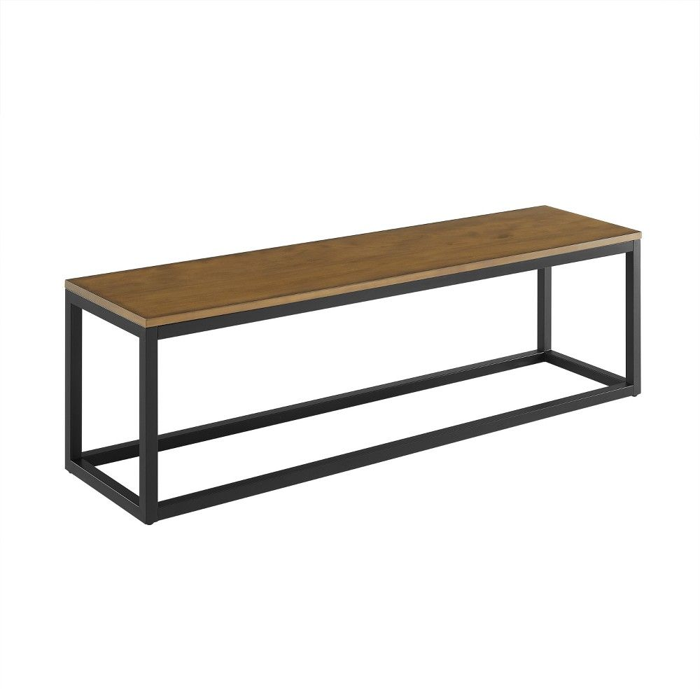 Barnaby Narrow Coffee Table Bench Brown Aiden Lane Brown Narrow Coffee Table Coffee Table Bench Coffee Table [ 1000 x 1000 Pixel ]