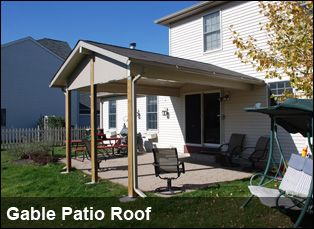 Charming Gable Patio Roof Overlay