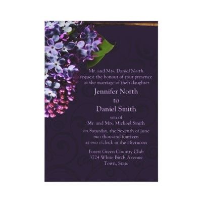 Lilac Wedding Invitation by TDSwhite