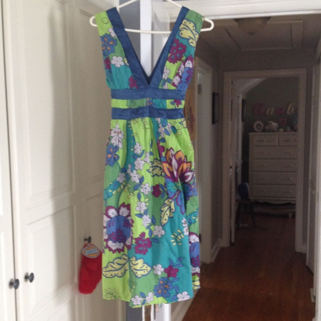 Pretty Flower Dress With Satin Trim Products