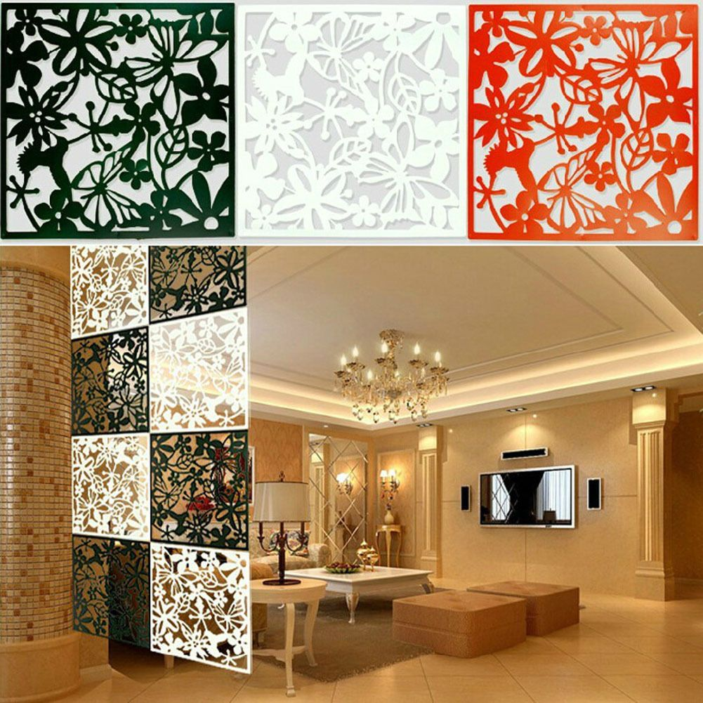 Marvelous 10X Plastic Hanging Screen Partition Room Divider Butterfly Flower Wall  Sticker Pictures
