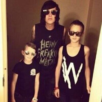 Kellin and sons Liam and Rowan