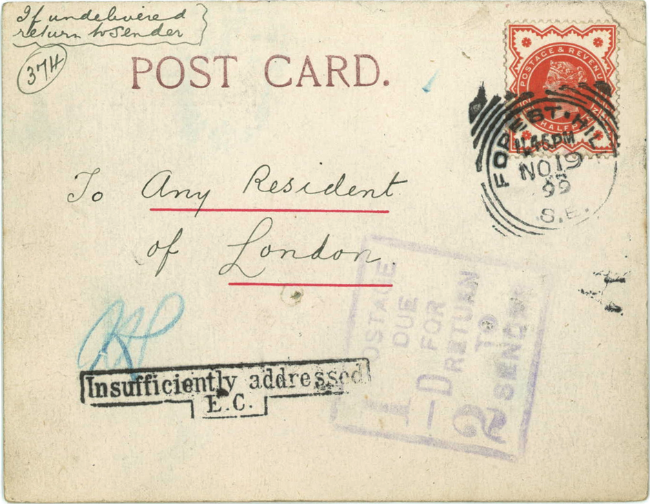 The Englishman Who Posted Himself  Royal Mail Rabbit And Post Card