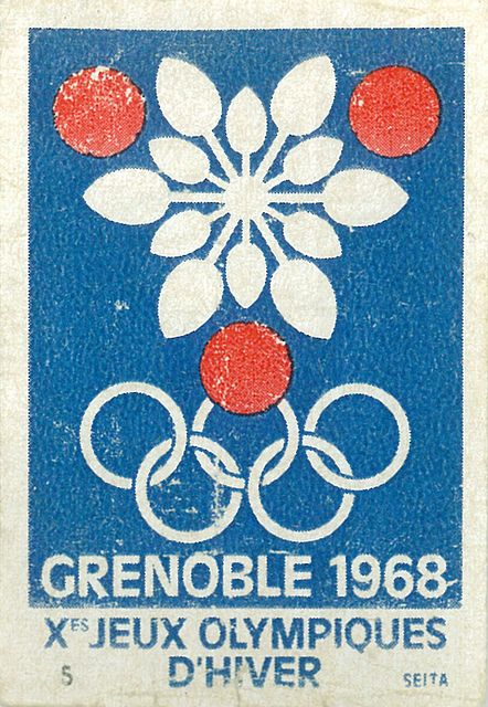 Olympic Winter Games 1968 Grenoble Matchbox Stamps Sports