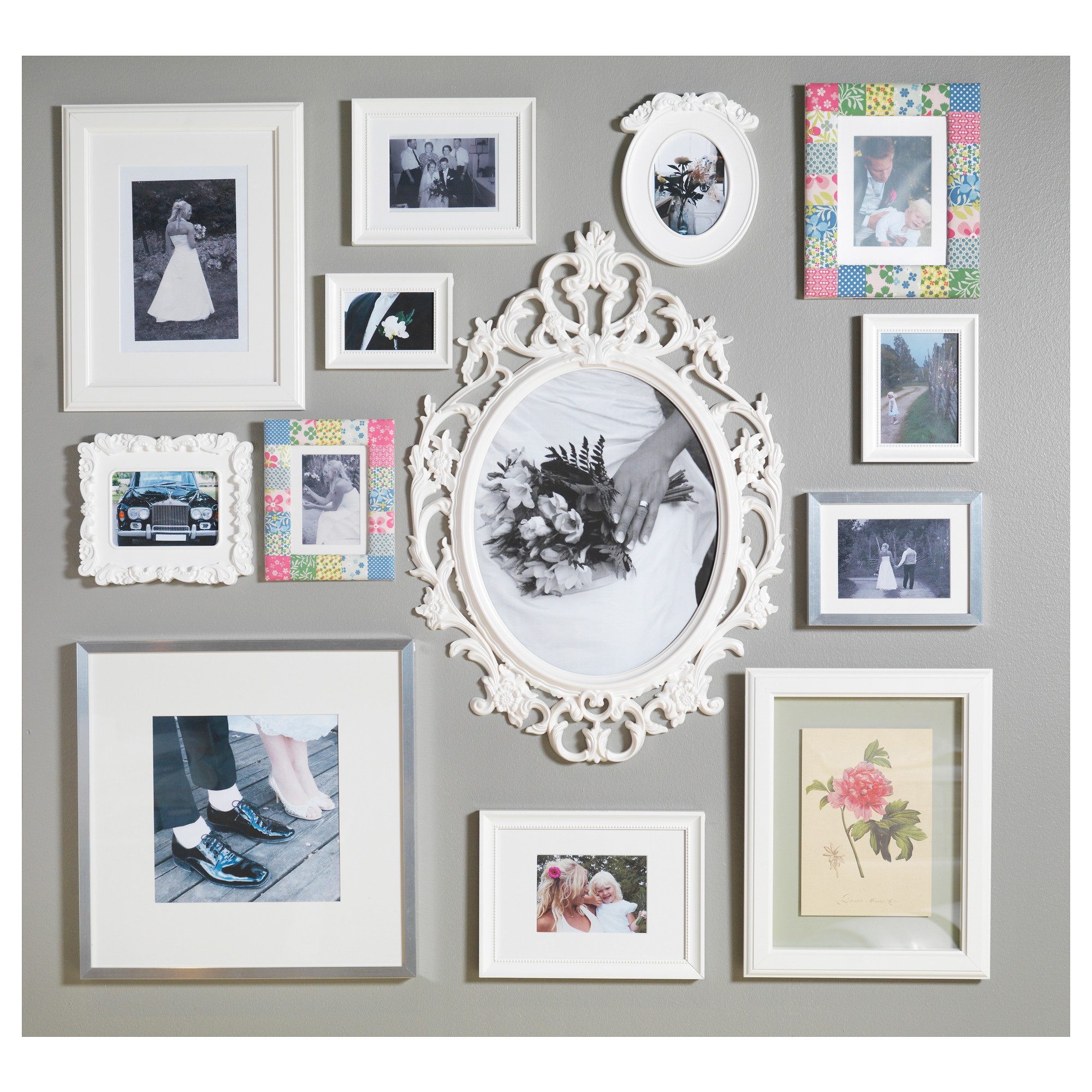 UNG DRILL Frame Oval/white IKEA | Photo wall, Walls and Gallery wall