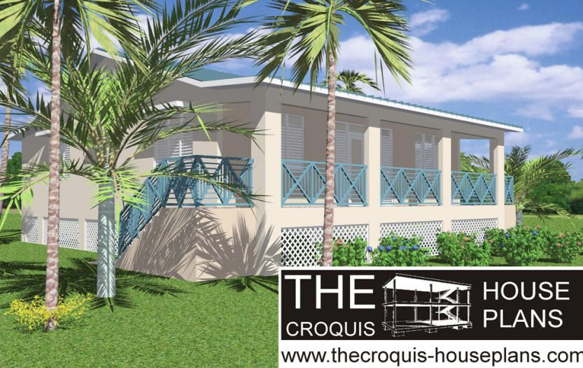 The croquis house plans puerto rico m26opt1 el jibarito for House plans puerto rico
