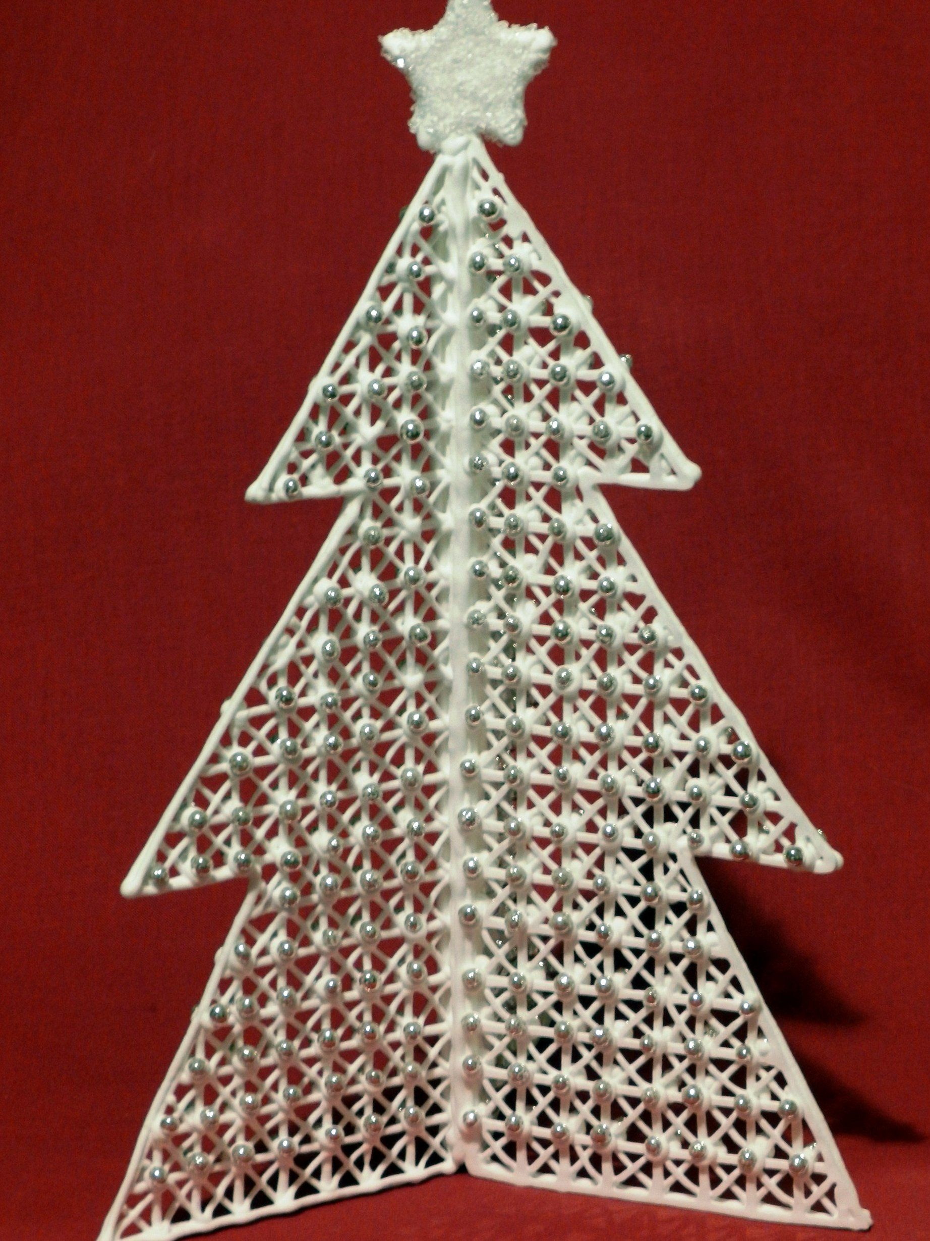 Christmas Trees Made With Royal Icing Gingerbread House And