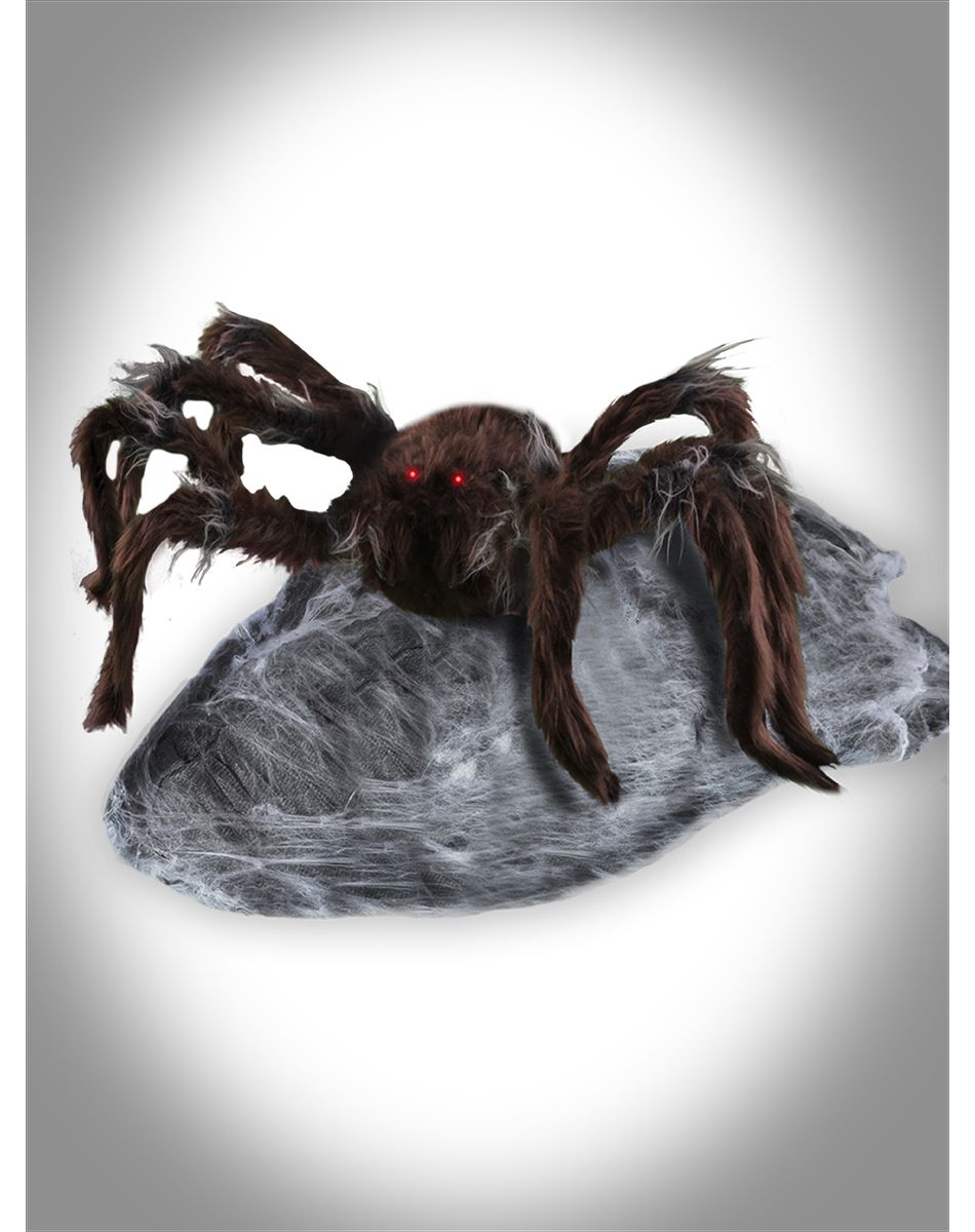 brown jumping spider animated decoration spirit halloween the reign of boris continues
