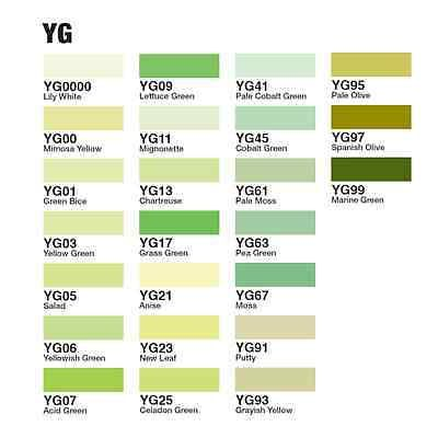 NEW Too Copic Marker Various Ink Refills [ YG Color Series ] F/S Japan drawing