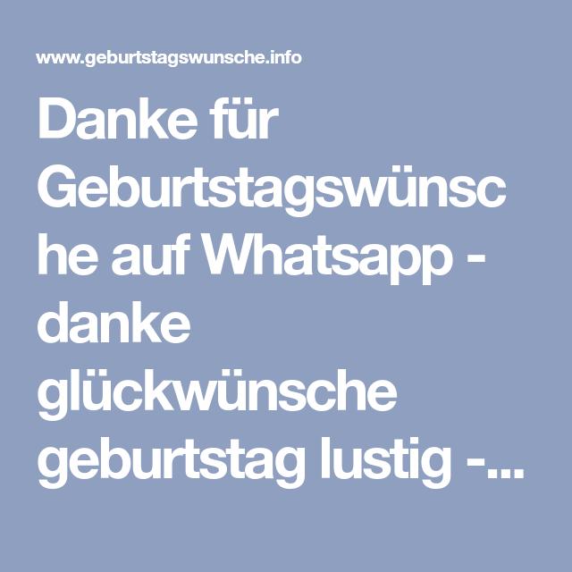 Danke Für Geburtstagswünsche Auf Whatsapp Danke