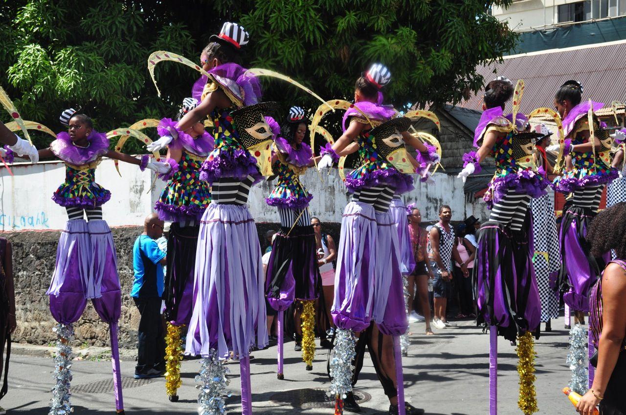 Afrikulture Stilt Walkers  More about Carnival at www.avirtualdominica.com