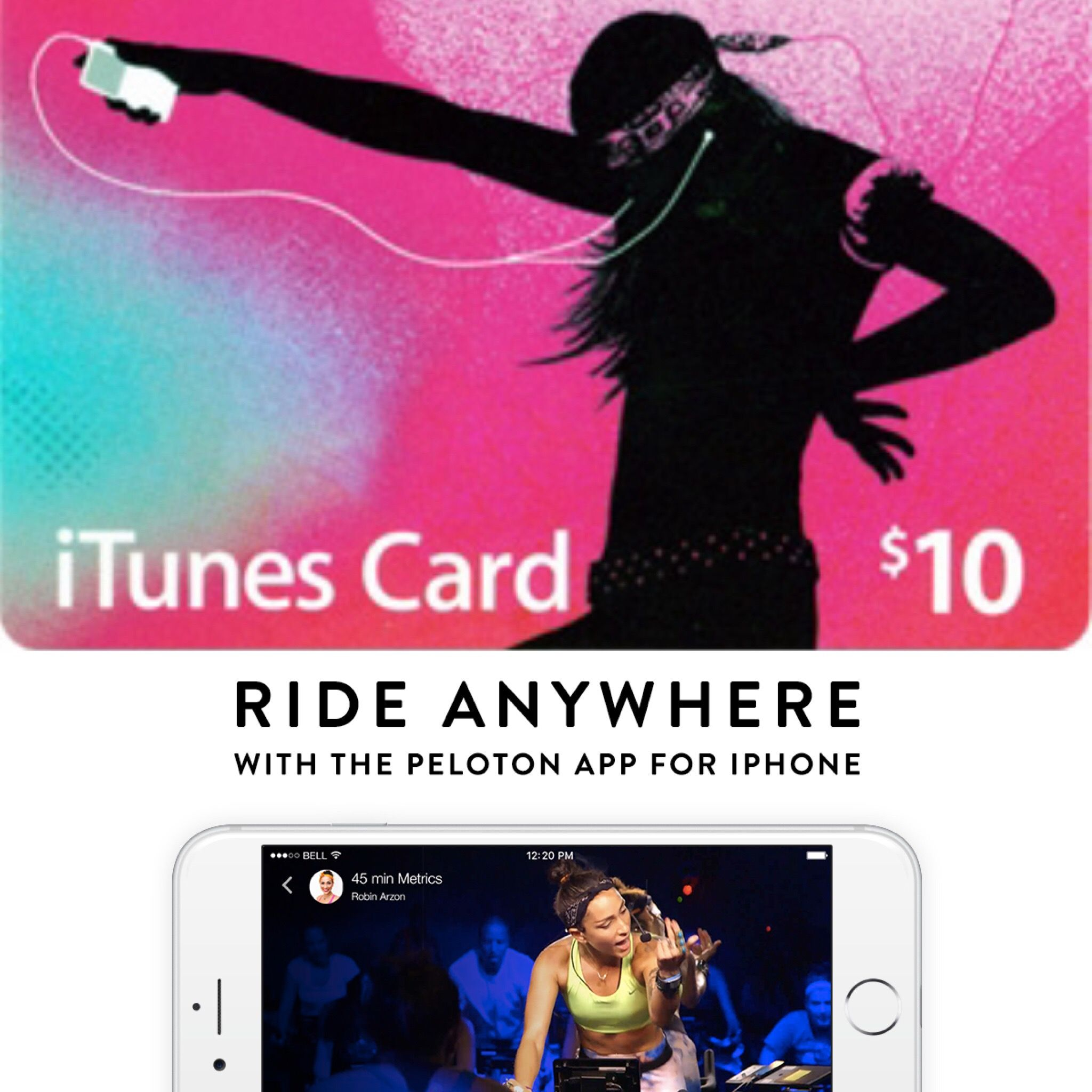 ITunes Gift Card To Pay For Online Cycling/fitness Classes
