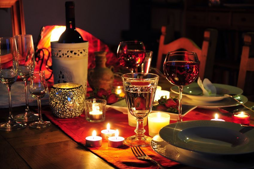 Set Up A Romantic Dinner For Two At Your Home Valentine