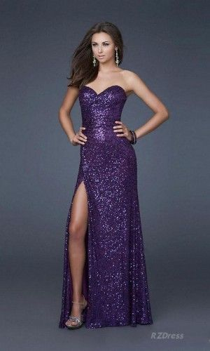 Prom Dress Long Dress Vestido De Gala Morado