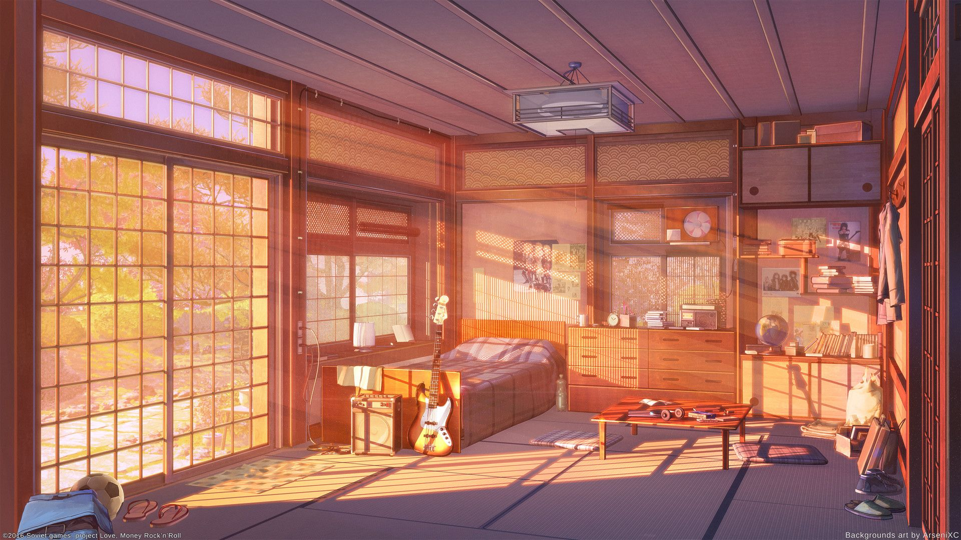 ArtStation Room sunset ver., Arseniy Chebynkin (มีรูปภาพ