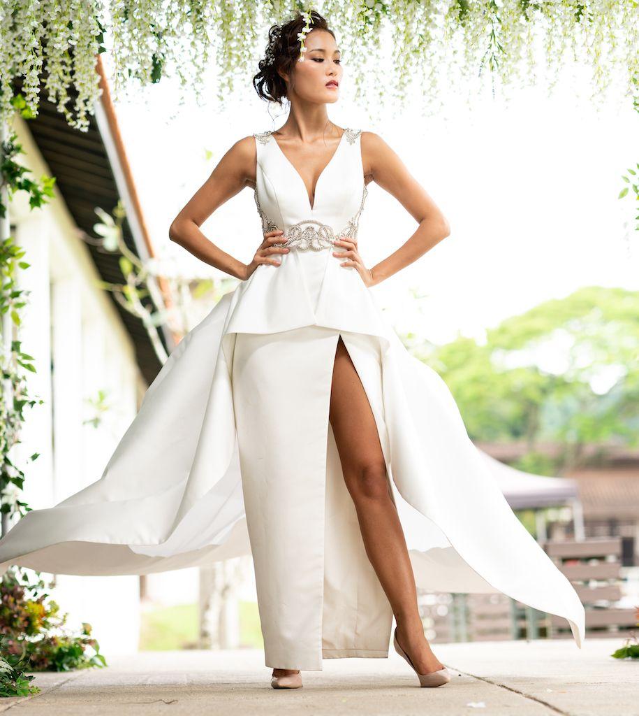 Duchess 3-Piece Bridal Gown Set #duchesssatin