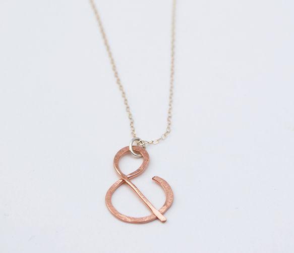 Rosegold Ampersand Necklace