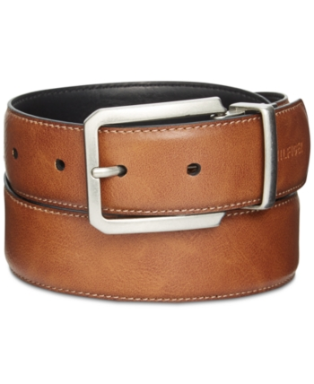 3b905afe31a2 Tommy Hilfiger Men s Big   Tall Reversible Belt - Tan black 46
