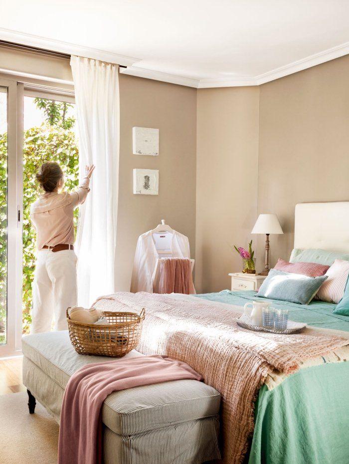 Peinture Mur Beige Plafond Blanc Deco Chambre Femme
