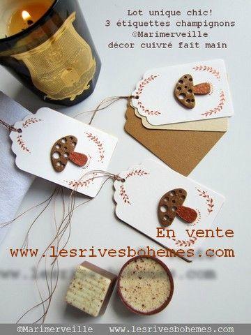 Marimerveille étiquettes au bois chic champignon 1