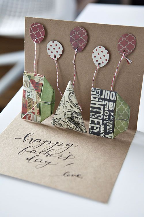 Amazing Card Making Ideas For Parents Day Part - 5: Time To Make Your DIY Fatheru0027s Day Card! Hereu0027s One Thatu0027s Made Of Origami  + Pop-up + Calligraphy All Jammed Into One!