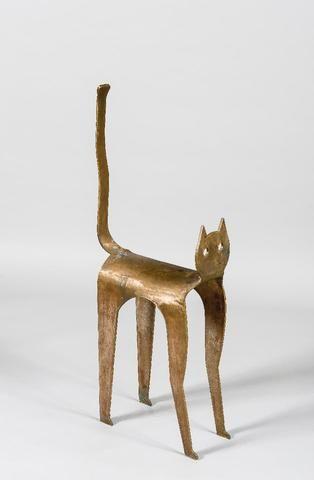 MARTEDINOS (né en 1974) Le chat Tabouret sculpture en bronze Haut  MARTEDINOS (1974 г.р.) Кошка бронзовая скульптура Высокий табурет
