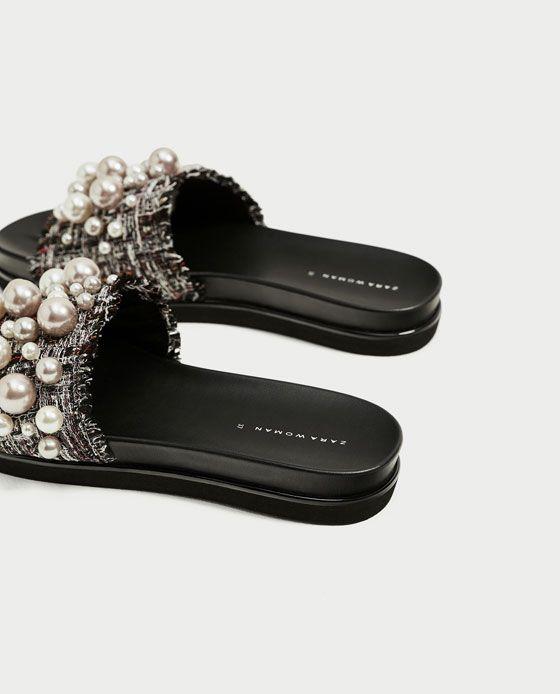 qualité supérieure prix favorable prix officiel Image 5 de MULES AVEC PERLES de Zara | chouchou | Chaussure ...