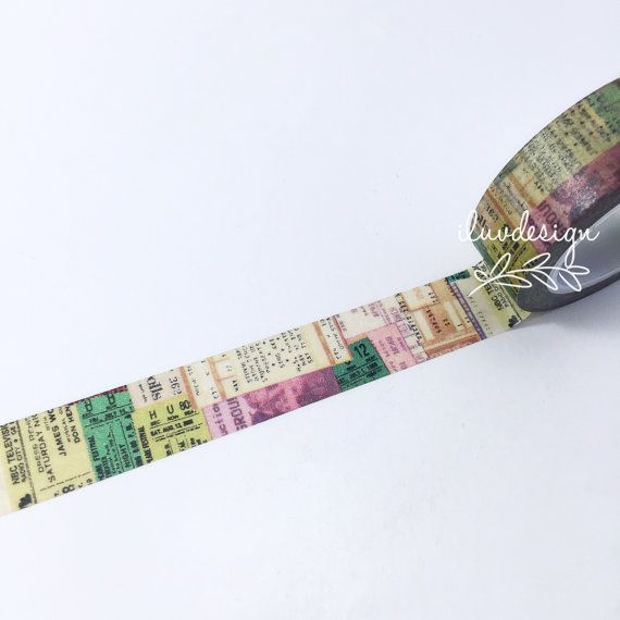 Newsprint & Old Tickets Washi Tape • Patterns Washi Tape (120029)