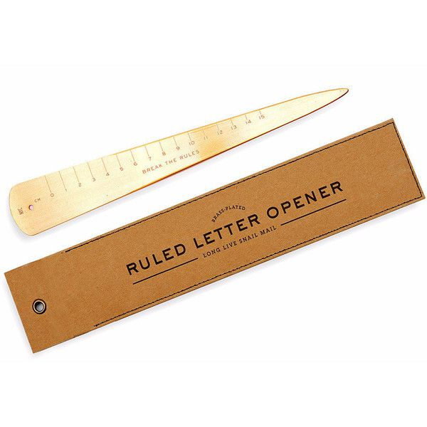 Ruled Letter Opener design by Izola (€16) ❤ liked on Polyvore featuring home, home decor, office accessories, stationary and izola