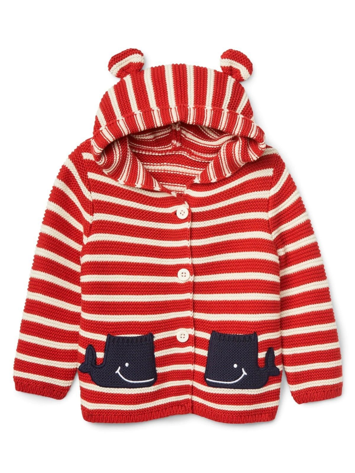 dd154cc2cde00 New Baby GAP Garter Hoodie Sweater Striped White and Red (Size US 0-3 mo)