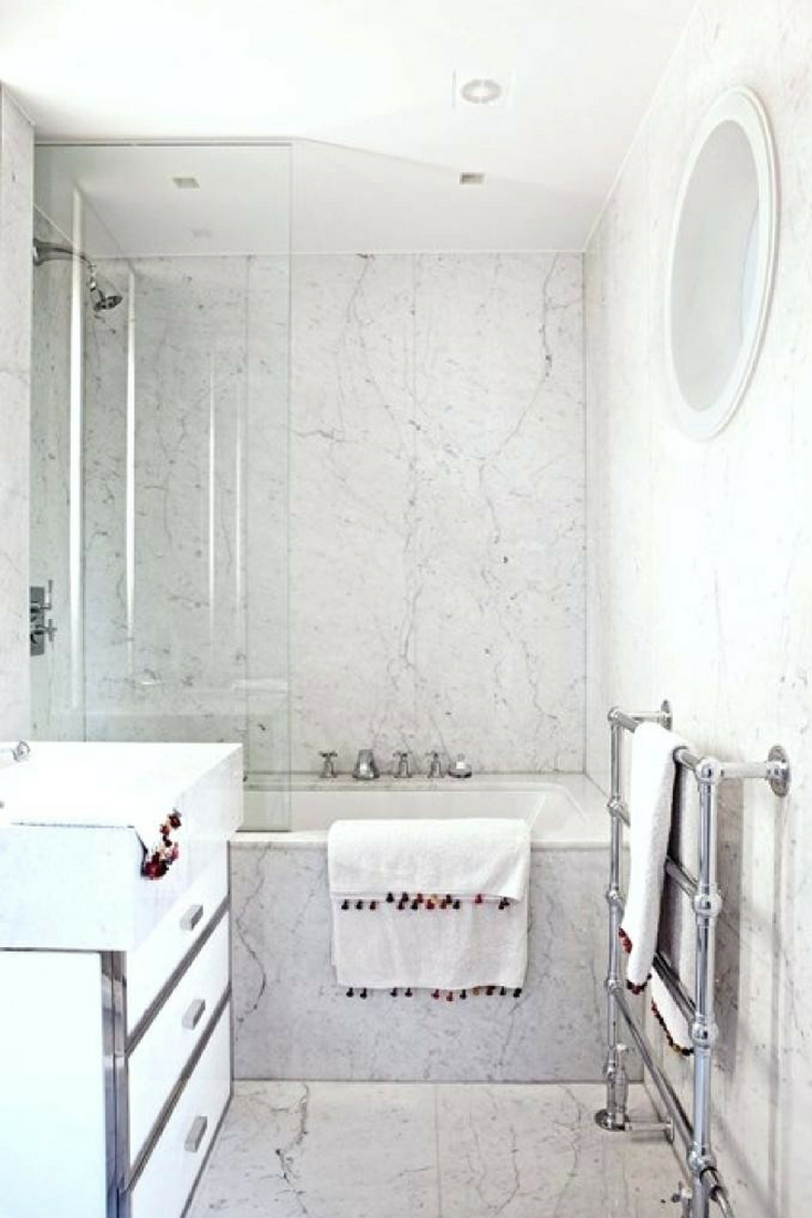 8 Clever Tricks On How To Make A Small Bathroom Look Bigger Bathroom Trends White Bathroom Designs Marble Bathroom Designs
