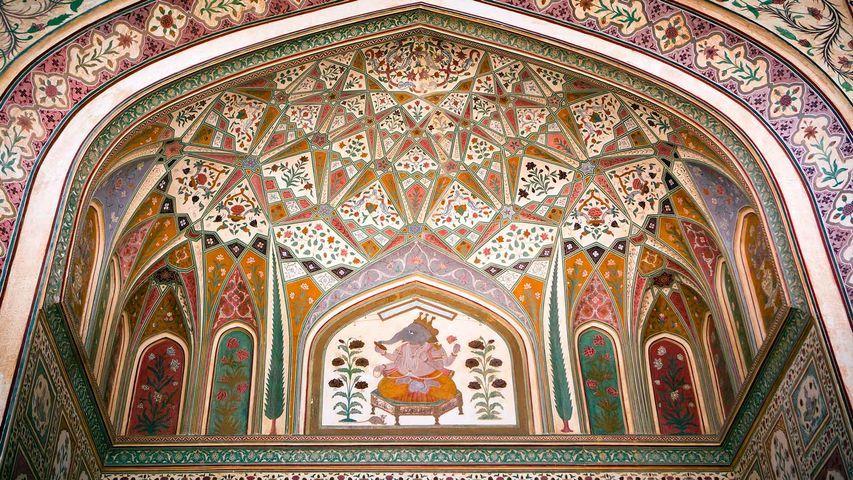 Ganesh Pol Ganesh Gate In Amber Palace Near Jaipur Palace Wallpaper Ganesh