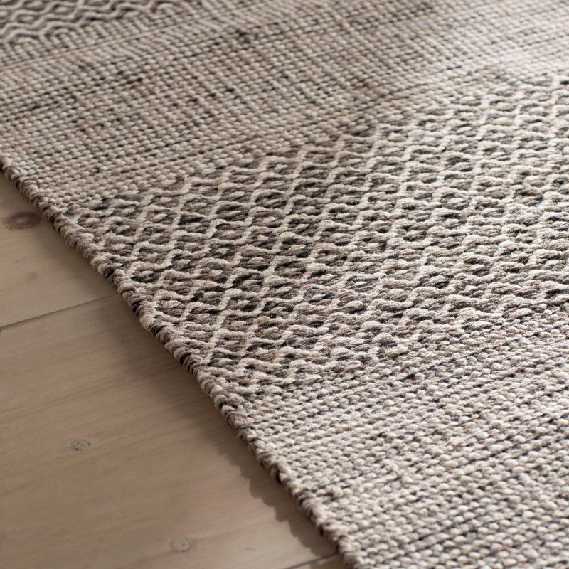 Jodi Handwoven Flatweave Cotton Ivory Anthracite Area Rug
