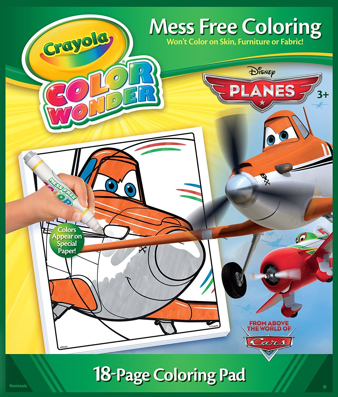 Amazon Com Crayola Color Wonder Disney Planes Coloring Book And Markers Toys Amp Games Coloring Books Color Wonder Free Coloring