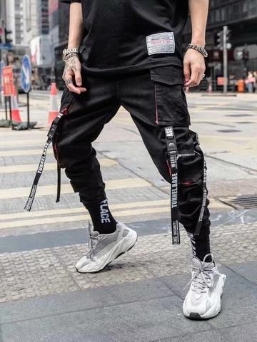 Men Cool Hiphop New Fashion Joggers Pants Fashion Joggers Streetwear Men Outfits Mens Streetwear