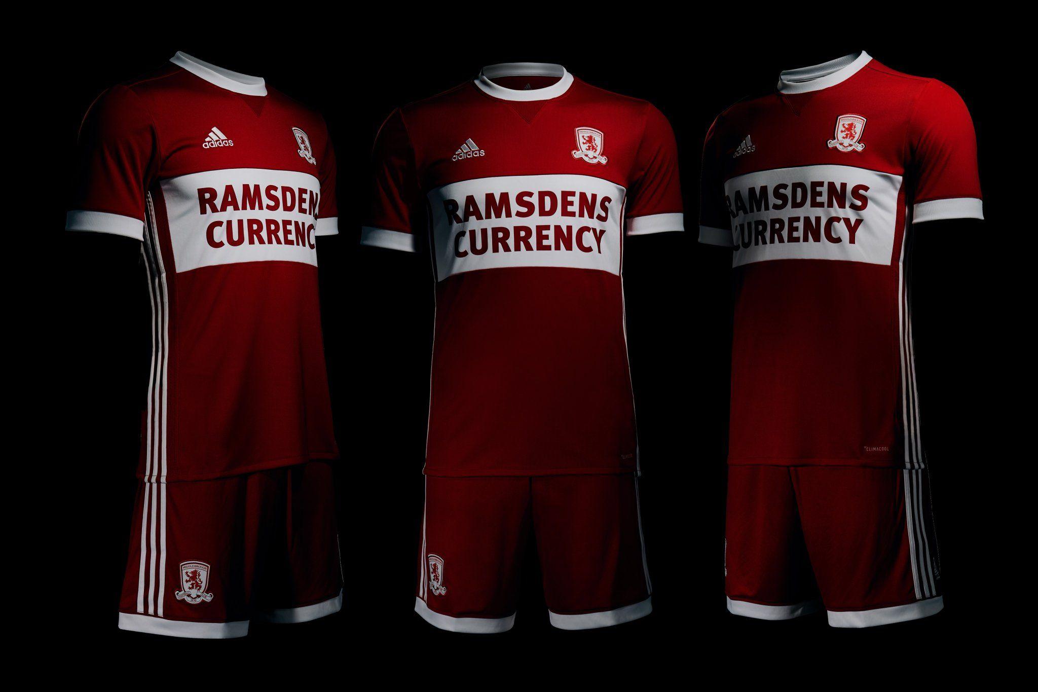 san francisco bce11 e8a78 Middlesbrough 2017-18 Adidas Home Kit  1718 Kits  Football shirt blog
