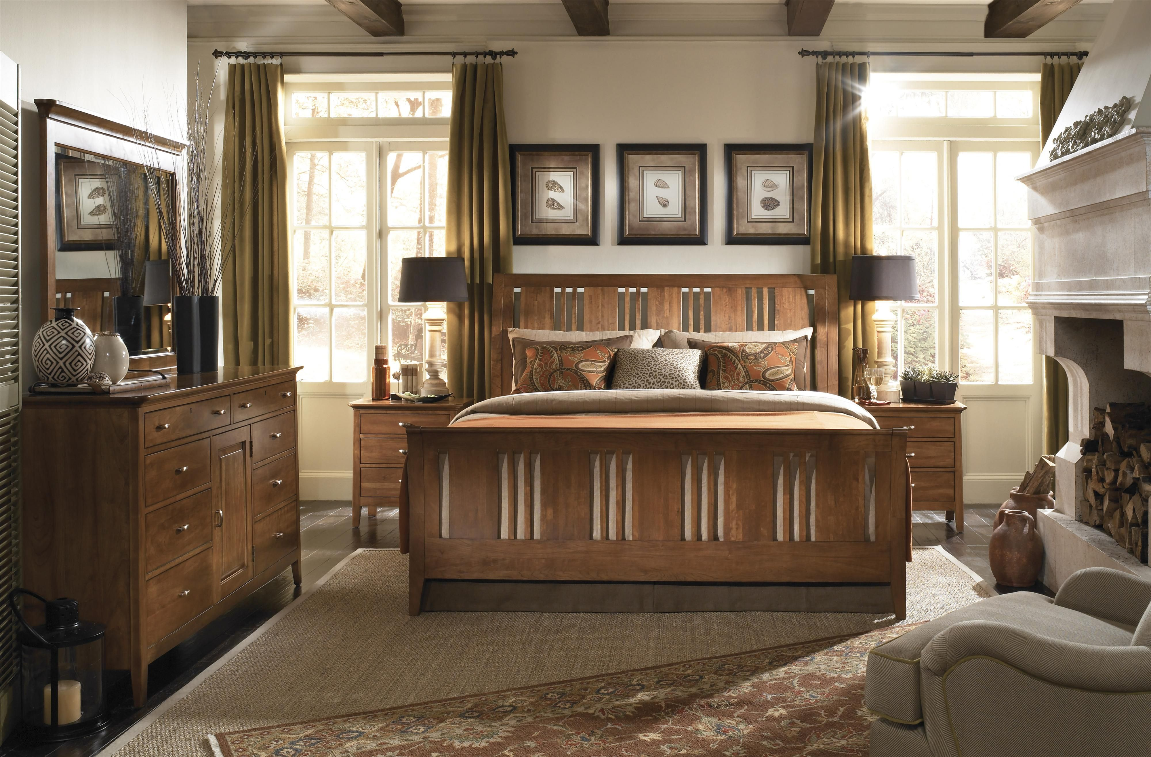 Cherry Park Queen Bedroom Group by Kincaid Furniture