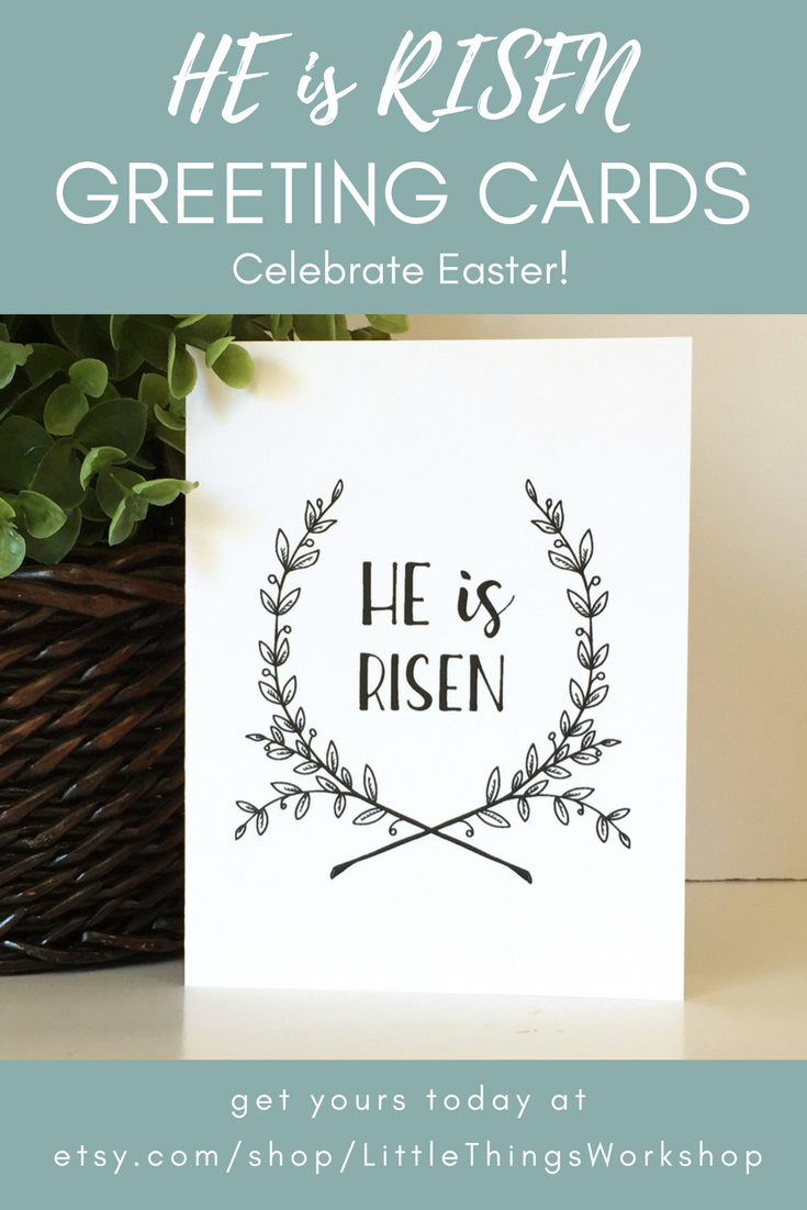 He Is Risen Easter Religious Card Risen Greeting Card