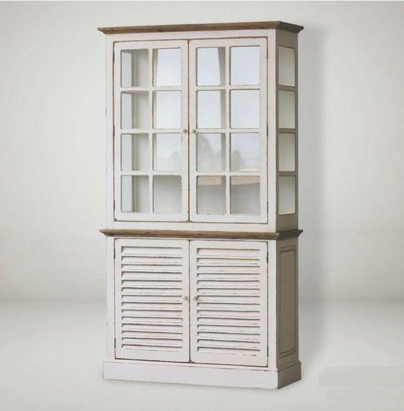 בלתי רגיל מזווה 2 חלקים| ארון מטבח ענק | מזווה 210X114 סמ | ויטרינה מעץ IJ-58